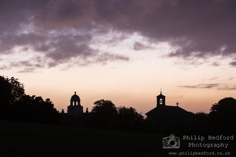 Glynde Church at Dawn