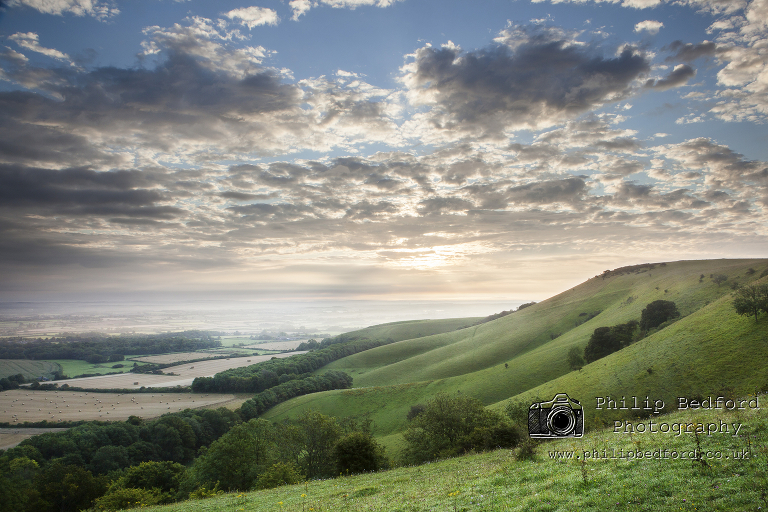 Firle Beacon after sunrise